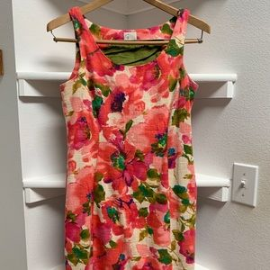 Pink floral Anthropologie mini dress